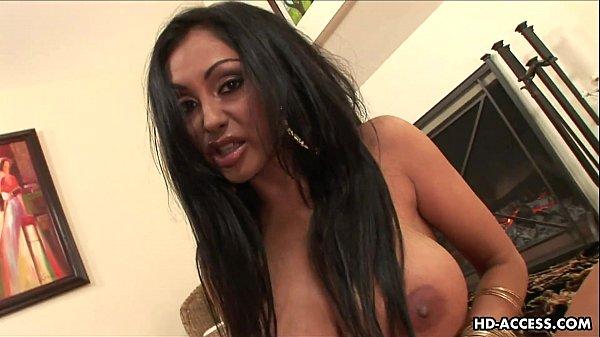 Brunette with big boobs toy fucks her wet cunt
