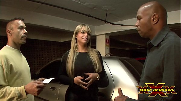 Hot businesswoman with no money paid for parking giving her ass to security guards - Angel Lima - Full scene on Red