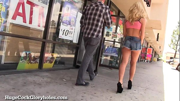 Hot Blonde Sucks Huge Gloryhole Cock! Thumb