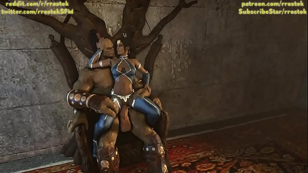 Kitana and Goro 3D porn Lovers