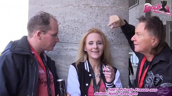 German skinny slut pick up on Erotic Venus in berlin for mmf threesome Thumb