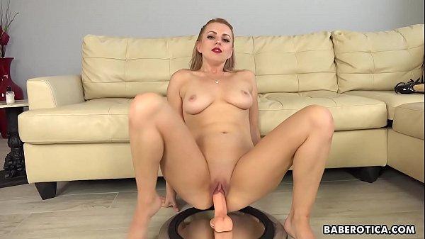 Girl with a huge dildo, Lexi Belle masturbates in 4K