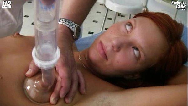 Redhead girl pussy examination by kinky gyno do...