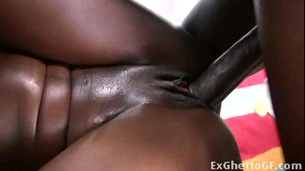 Ebony babe with big booty loves fucking