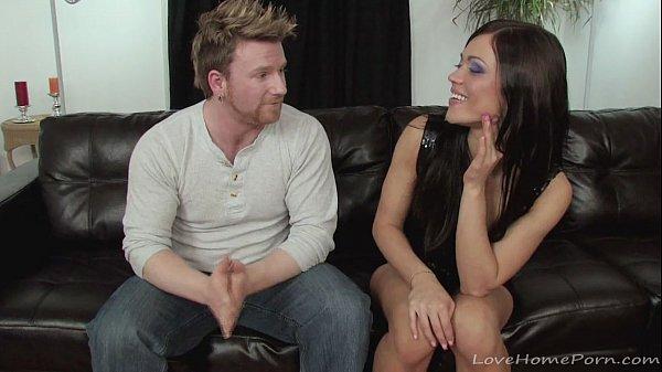 Gorgeous brunette loves pleasing a hard donger