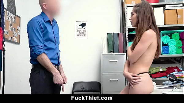 Petite Teen Caught Shoplifting is Forced For Blowjob