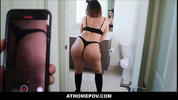 Quarantined Thick Big Ass Big Tits Teen Stepsister Fucked By Stepbrother During Coronavirus POV