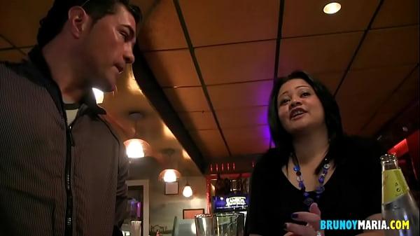A BRUNOYMARIA Stripper ends up fucking the bar waitress