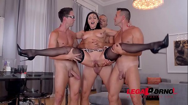 Deepthroating dinner party with Lea Lexis ends in deep double penetration GP668 Thumb
