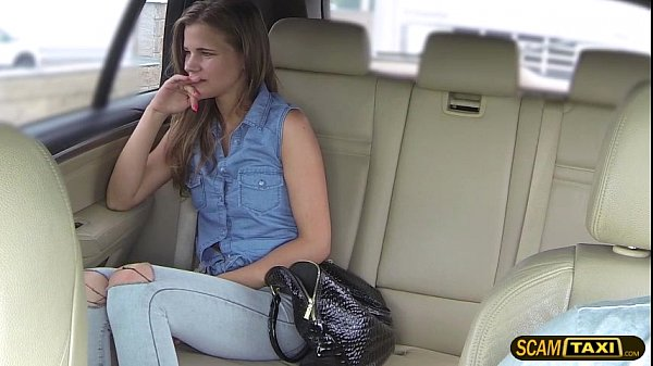 Astonishing lady gets pummeled from behind by the cab driver Thumb