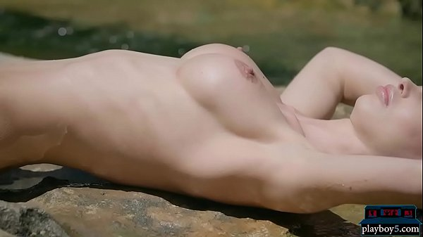 Blonde beauty with big tits strips naked in the outdoor Thumb