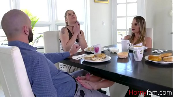 Some Under The Table Footplay- DAD DAUGHTER- Athena Faris Thumb