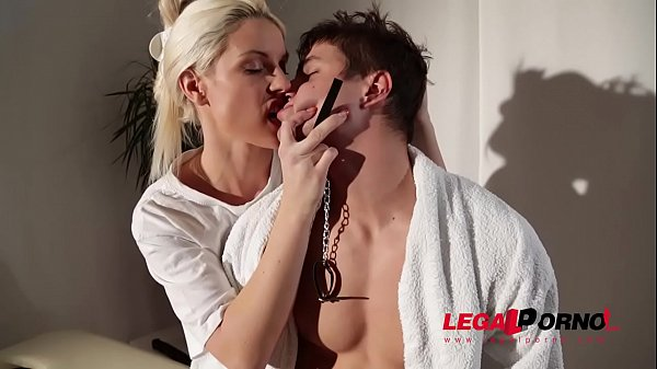 Voluptuous masseuse dominatrix Blanche Bradburry humiliates & c. young man GP599 Thumb