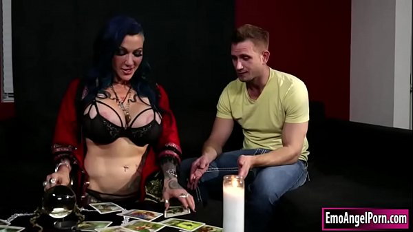 Ink witch stepmom throats stepsons cock