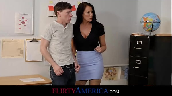 Slow Student Can Pass His Test If He Fucks His Busty Milf Teacher