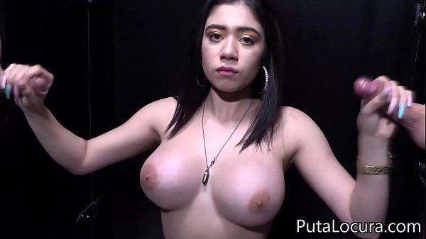 Giselle Montes GloryHole - La mexicana se traga 14 lefazos en el Spanish Glory Hole