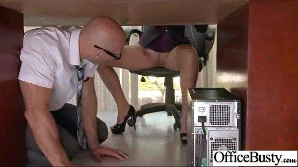 Busty Office Girl (lela star) Bang Hard Style At Work clip-21