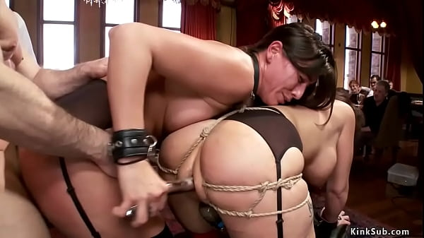 Anal slaves fuck in brunch party