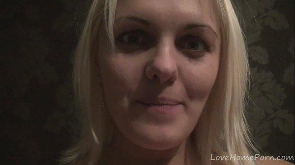 Gorgeous blonde girl loves displaying her big titties