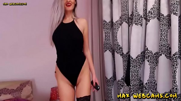 Seductive Romanian Camgirl In Stockings Fingering Pussy And Dildoing Asshole Thumb