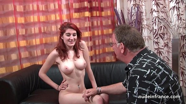 Busty french redhead babe deep anal fucked with cum on ass for her casting couch Thumb