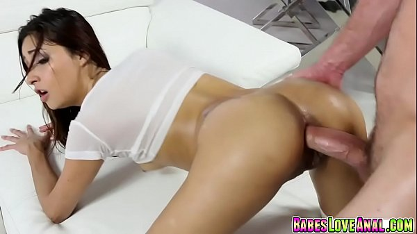 Jade Janzten bends over and gets fuck in her as...