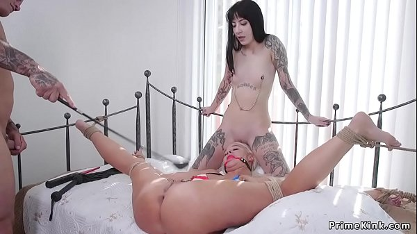 Dude fucks wife and stepdaughter bdsm