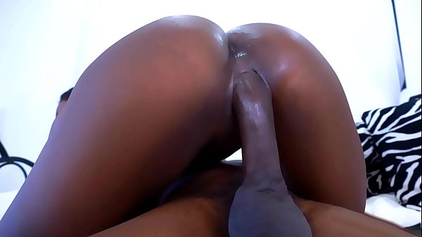 Black babe with a huge ass fucks her step brother
