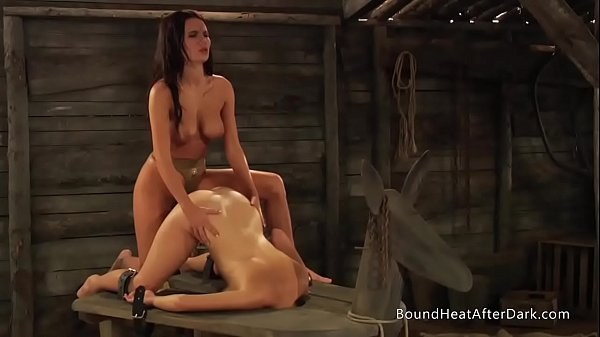 Deep Strapon Penetration And Submissive Life Of Young Lesbian Slave