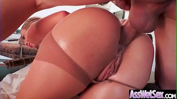 (Kat Dior) Big Oiled Ass Girl Enjoy Deep Anal Intercorse clip-22