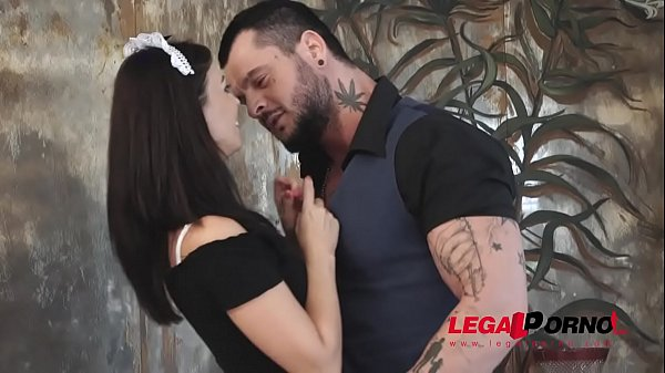 Sizzling hot maid Vicky Love rides his cock until he cums on her titties GP881 Thumb
