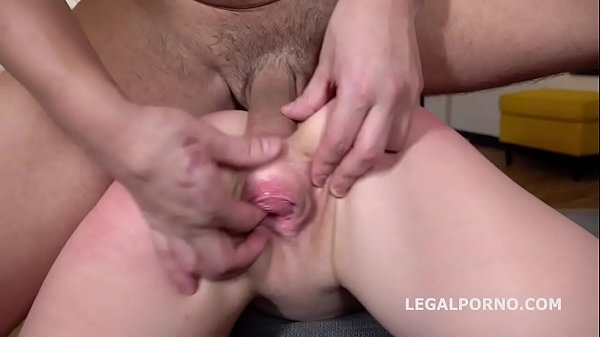 Alexa Flaxy gets 2on1 Anal and DP with rough se...