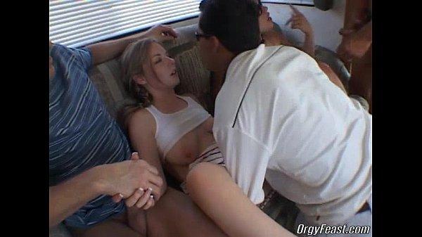 Teen sluts have a wild orgy