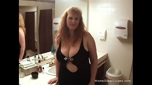 Busty blonde BBW taking on two guys at once Thumb