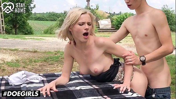 DOEGIRLS - #Anastasia Brokelyn #Zazie Skymm - OUTDOOR SEX AND TEEN MASTURBATION - 2020 COLLECTION!