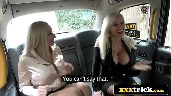 Busty Blonde Bimbos In Filthy Taxi 3some - Mich...