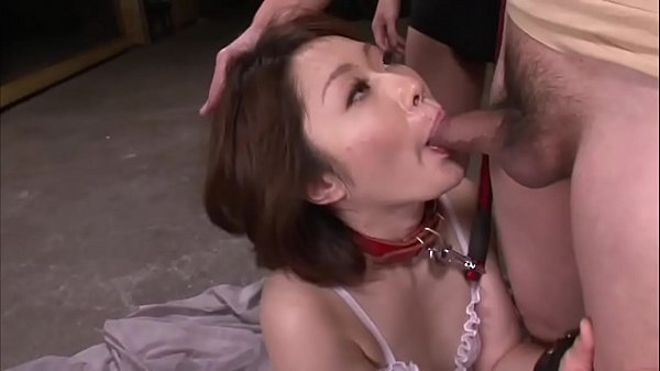 Mature asian blows three studs in a foursome on...