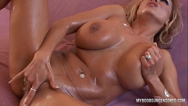 Busty MILF pierced pussy play with whipped cream masturbate