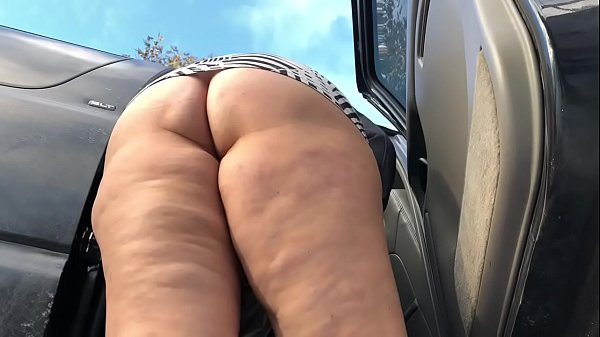 Fantasia's BIG long Booty Shake and Tease outdoor