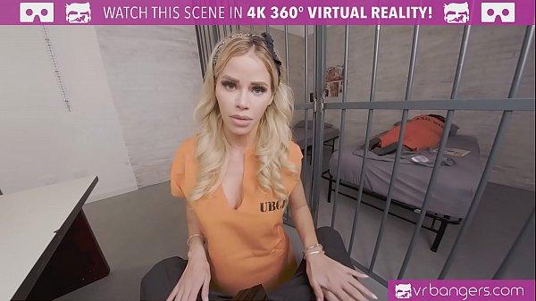 VRBangers.com-Beautiful prisoner is working you...