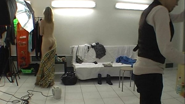 Backstage fun with real czech blonde