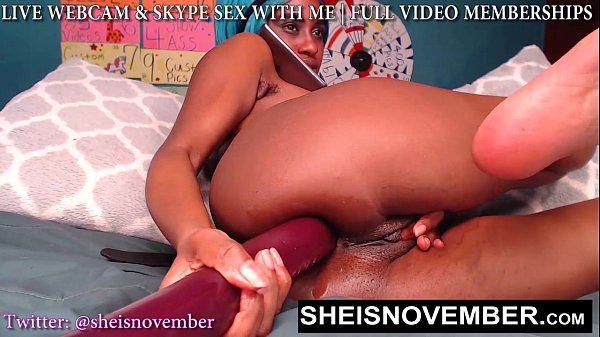 Monster Dildo k. My Black Asshole, Msnovember Gothic Bootyhole Penetrated Hard On Webcam With Legs Up In Pain