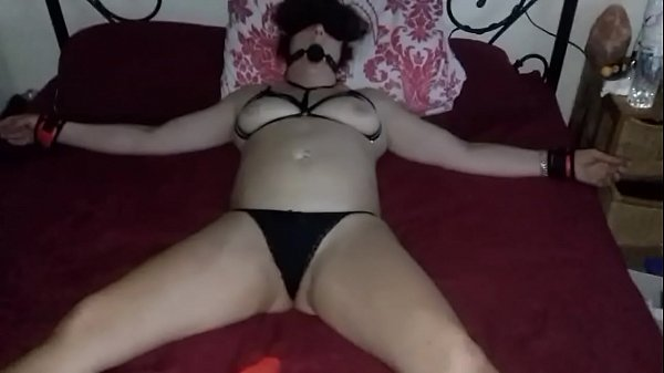 TIED TO BED WAITING FOR STRANGER PART 1