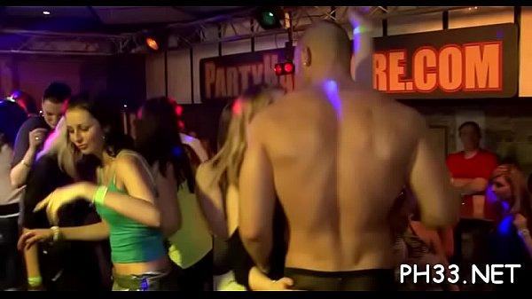 Gang bang wild patty at night club
