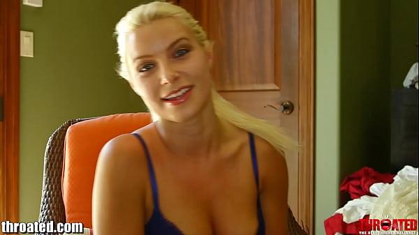 Throated Anikka Albrite gets facefucked & throa...
