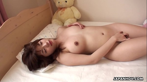 Japanese housewife, Mai Misato masturbates, uncensored