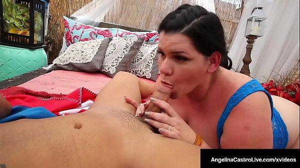 Cock Craving Cuban Angelina Castro Blows & Suck...