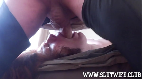 Good Morning Facefuck for cock-hungry amateur slut with big natural boobs