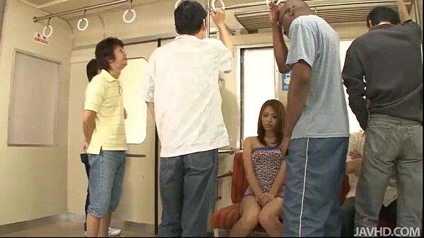 Japanese sweetheart Mizuki Iori a. on the subway by thugs