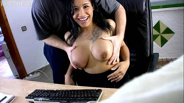Caught by her husband flashing the webcam
